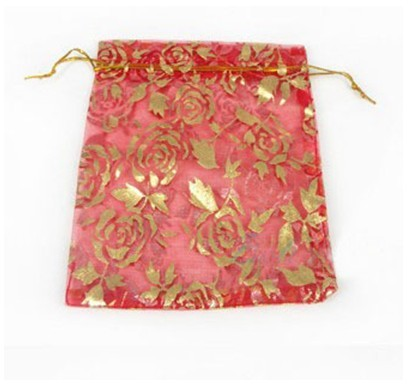 rose Organza Wedding Favour Gift Bags Pouch 13*17 Cm G-0010