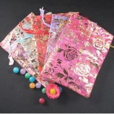 Lots Wedding Rose Gift Pouch Organza Bags 17cm*23cm G-0010