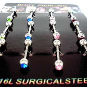 I-0049 12PCS Wholesale Nipple Tongue Barbells Ear Bars Rings