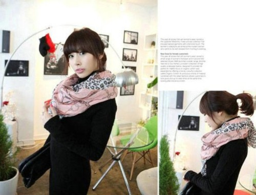 New Coming Korea Style Cotton Blends belt leopard Scarf Shawl C-0003