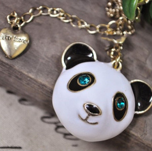 BJ Tags 2012 New Gold Tone Chain Fat Giant Panda Necklace N-3345
