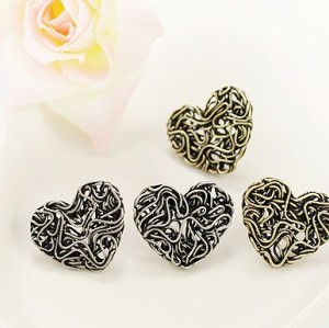wholesale 2 pairs hollow out heart earring ear stud E-1050