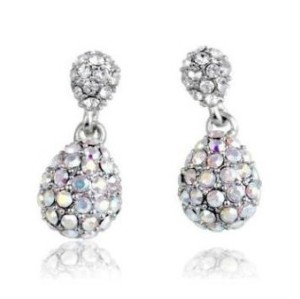 Charming Style Silver Plated Alloy  Rhinestone Dripping earring E-0248