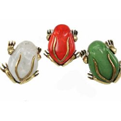 3 Colors Optional Frog Ring R-0024