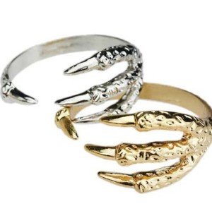 Vintage Style 4Colors bronze/silver/gold/vintage gold tone Eagle Claw Bangle B-0161