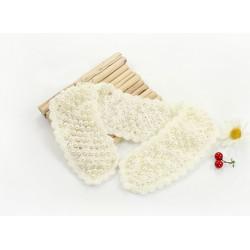 Lovely Woolen Yarn hollow out Flower pearl  Collar N-2070