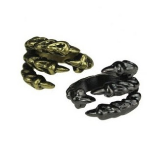 Vintage Style Bronze Eagle Claw shape ring R-1020