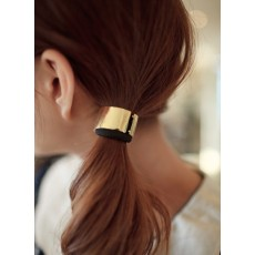 punk style gold/silver plated alloy opened circle hair band F-0010