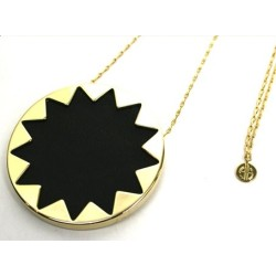 Top Fahsion Subflower Leather & Shell Round Pendant Necklace