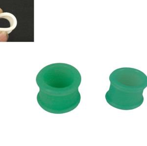 I-0047 12pcs 14mm Green Ear Tunnel Flare Plug Expander Silicone Piercing Jewelry