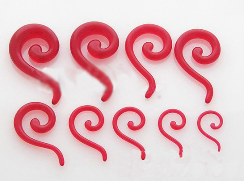 Lot 12 Pcs Wholesale Size Selectable red Acrylic Question Marks Ear Piercing I-0001