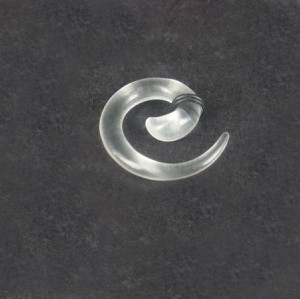 Clear Style Acrylic Spiral Taper Horn Snail Stretcher expander Piercing I-0008