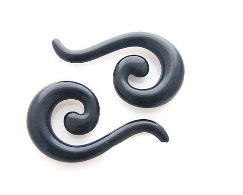 Lot 12 pcs Wholesale White Acrylic Spiral expander stretcher Kit Ear Plug Piercing I-0004