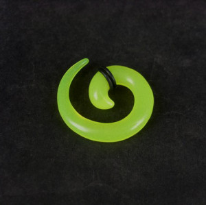 Light Green Acrylic Spiral Taper Horn Snail Stretcher expander Piercing I-0010