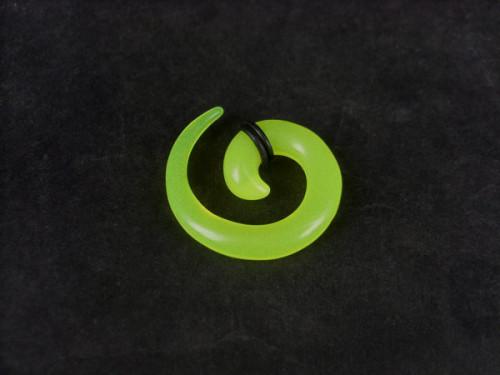 Light Green Acrylic Spiral Taper Horn Snail Stretcher expander Piercing I-0010