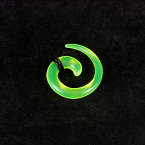 Green Acrylic Spiral Taper Horn Snail Stretcher expander Piercing I-0012