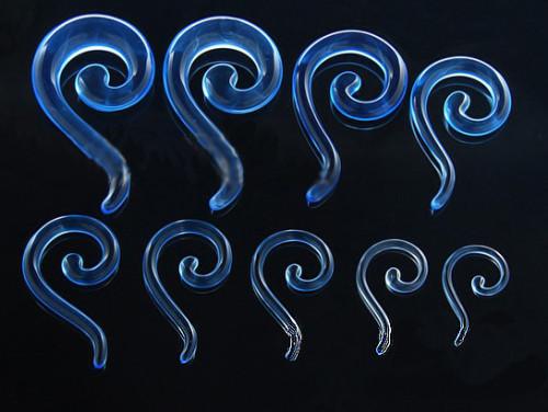 Lot 12 Pcs Wholesale Size Selectable Blue Acrylic Question Marks Ear Piercing I-0005