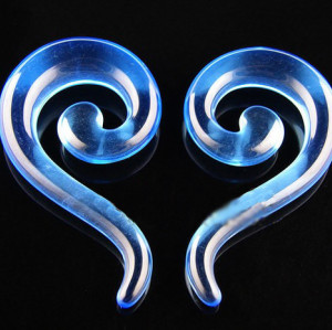 Lot 12 Pcs Wholesale Size Selectable Blue Acrylic Question Marks Ear Piercing I-0005