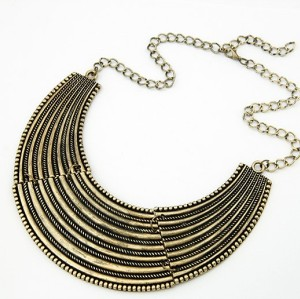 vintage style Punk Crescent Stripes Choker Collar Necklace N-2031