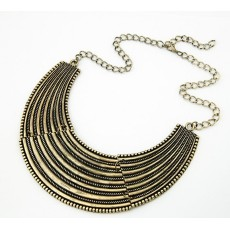 vintage style Punk Crescent Stripes Choker Collar Necklace N-2031