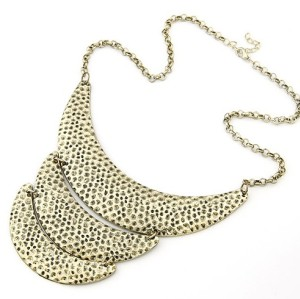 vintage style Punk Crescent spot  Bib Necklace N-2027