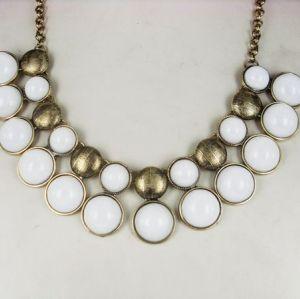 N-0570 European classical style faux gem tassels necklace