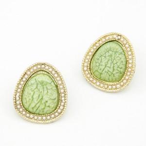 E-1680 new style pearl gem triangle ear stud