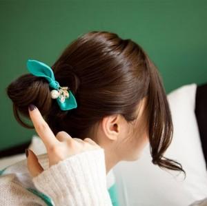 F-0075 new style crystal drip lock heart chiffon bowknot hairband