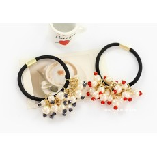 F-0058 charming white pearl crystal hair band