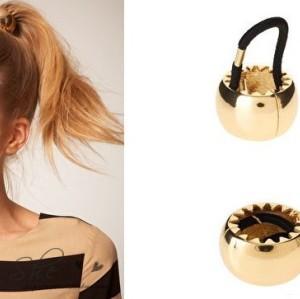 F-0023 Punk Womens Metal Circle Ring Hair Cuff Wrap Hinged Ponytail Holders Band
