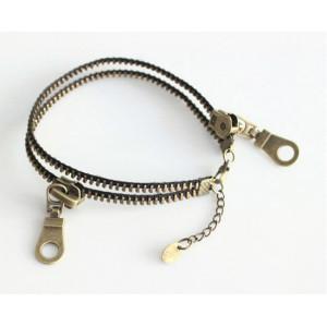 B-0221 European retro personality female fashion jewelry zipper Anklet