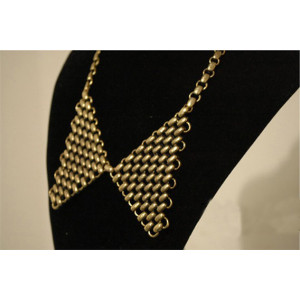 N-2086 Fashion all-match vintage copper tone alloy collar necklace