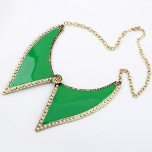 N-4556 retro Glazed pearl bowknot collar  Necklace