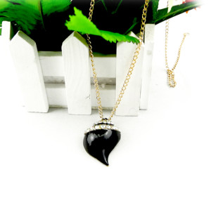 S-0020 charming enamel rhinestone conch shape necklace ring earring set