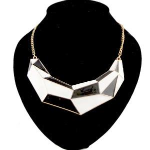 N-2094 European Style Punk Rock Crescent Geometric enamel choker  Necklace