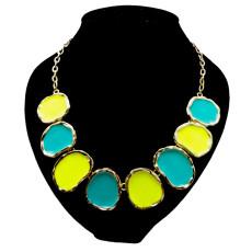 N-0787 gold plated enamel Geometric irregular round choker Necklace