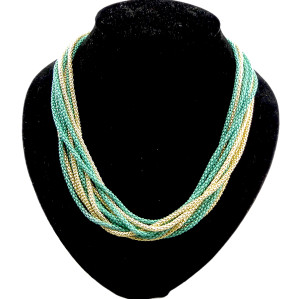 N-1051 European style multilayer  snake chain Necklace