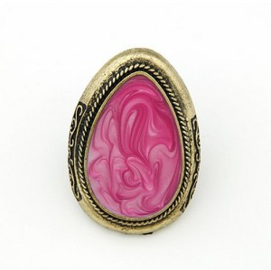 Vintage Style  enamel big drip ring adjustable