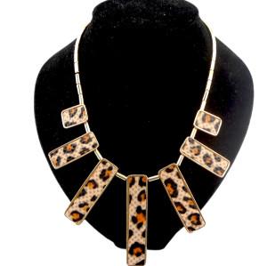 New Fashion Geometry leather Choke Necklace N-4513