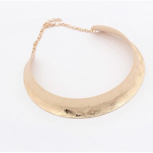 New Style silver/gold plated mirrored butterfly carving choker necklace N-2002