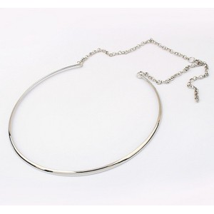 New Style silver/gold plated mirrored hoop choker necklace N-2022