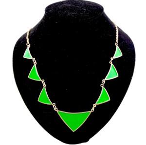 European style Fashion enamel Geometry triangular Necklace N-4562