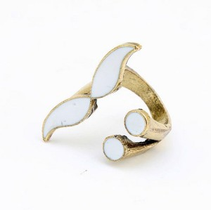 Punk Retro Bronze Enamel Cosplay Eye Mustache Opened Finger Ring Adjustable R-0180