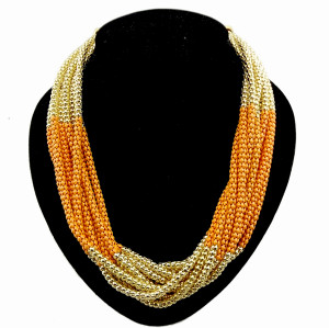European style Multilayer enamel Snake Chain Necklace N-1053