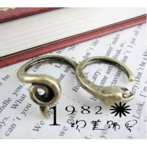 Wholesale 2Pieces Retro Silver/Bronze Snake Opened Double Fingers Ring R-0035