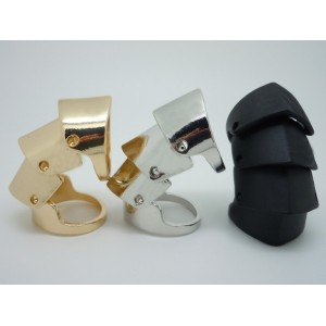 punk silver gold Black plated Movable joint  ring R-0051