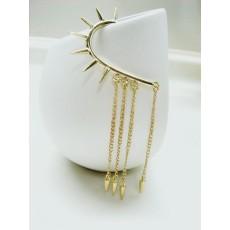 Gold Plated Rivet Tassels Ear Cuff  Earring E-0022
