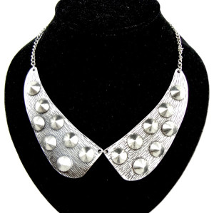 European Style Punk Rivet Short Metal collar Choker Necklace N-2083