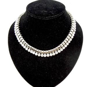 European Style gold gun black  snake chain crystal choker necklace N-1008