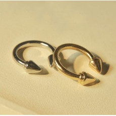 wholesale 3 pieces Punk  gold silver black tone rivet opened ring R-0124